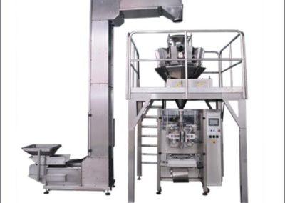 Maquinas envasadora vertical automatica con multicabezal y elevador